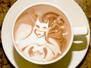 Batman Flat White Coffee
