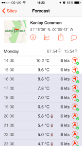 Windsock - Advanced weather app - Detail Screen