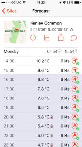 Windsock - Advanced weather app - Detail Screen